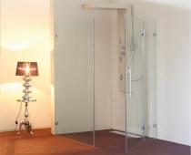 Cabina dus Alux Glassline Premium Tip L 100x70 - 1 usa stanga/dreapta